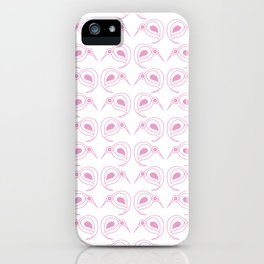 Pink kiwi pattern iPhone Case