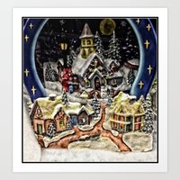 starry night Art Prints featuring Starry,Starry Night by Catherine1970