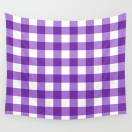 Purple Buffalo Check - more colors Wall Tapestry