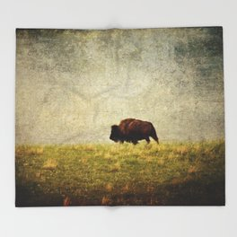 Lone Buffalo Throw Blanket