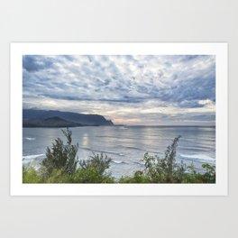 Hanalei Bay Sunset Art Print