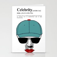celebrity Stationery Cards featuring Celebrity by jt7art&design