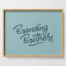 Branding Brothers turquoise Serving Tray
