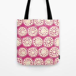 flower block ivory pink Tote Bag