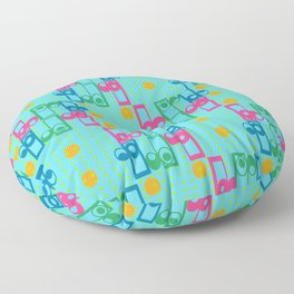 Retro Pop Pattern Sky Floor Pillow