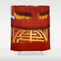 literature Shower Curtains featuring Temple of Literature by DrCaroline
