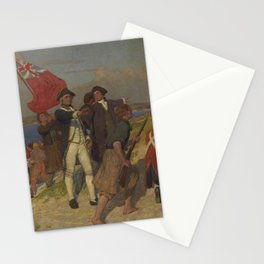 E Phillips Fox - Landing of Captain Cook at Botany Bay, 1770 Stationery Cards