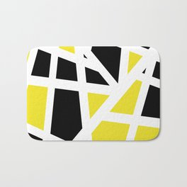 Abstract Interstate  Roadways Black & Yellow Color Bath Mat
