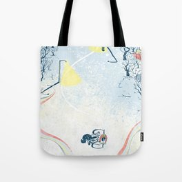 Winter Cycling Tote Bag
