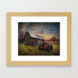 Abandoned Farmall Tractor and Barn Framed Art Print