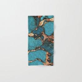 AQUA & GOLD GEMSTONE Hand & Bath Towel