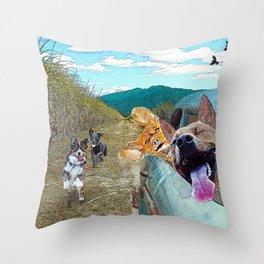 Cane Fields Throw Pillow