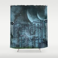 gothic Shower Curtains featuring Gothic by nicky2342