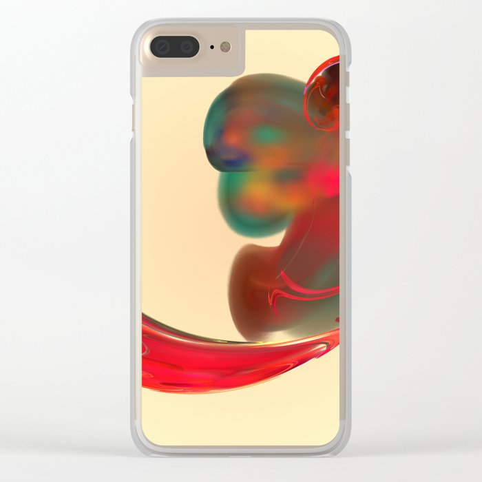 the red   (A7 B0131) Clear iPhone Case