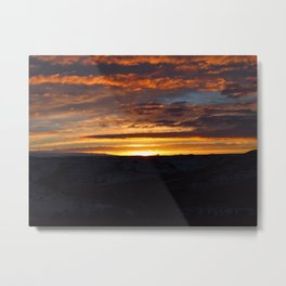 Canvas in the Sky Metal Print