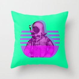 Space Diver Throw Pillow