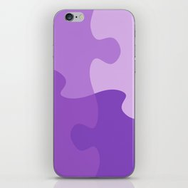 Pastel Ultra Violet Puzzle Pattern Jigsaw Pieces iPhone Skin