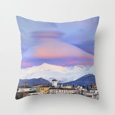 NASA APOD. ASTRONOMY PICTURE OF THE DAY! Lenticular clouds over Granada and Sierra Nevada at sunset Throw Pillow