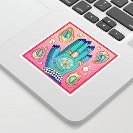 Cancer hand Sticker