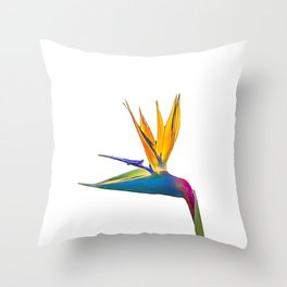 Bird of Paradise Flower (colour pen and ink) Throw Pillow