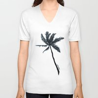 coconut wishes V-neck T-shirts featuring Coconut Palms by Art by Risa Oram