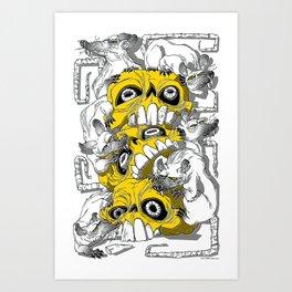 rat pile Art Print
