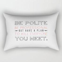 Be Professional Rectangular Pillow