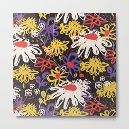 Floral Fiesta Metal Print
