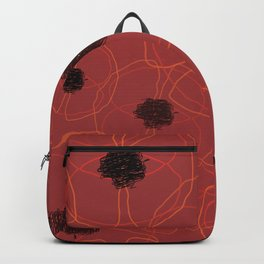 Poppy Red Pattern MT Backpack
