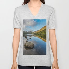 Crafnant Lake Snowdonia Unisex V-Neck