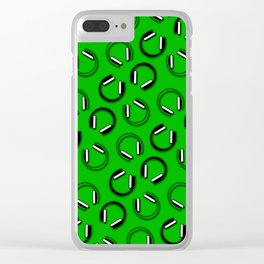 Headphones-Green Clear iPhone Case