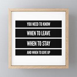 Do It Right Framed Mini Art Print
