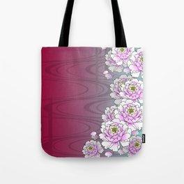 Poeny-Japanese Kimono Art Tote Bag