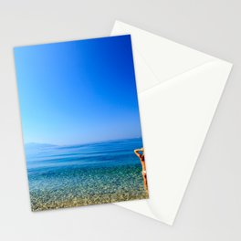 Girl at the sea in Croatia Stationery Cards