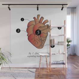 Five Point Palm Exploding Heart Technique Wall Mural