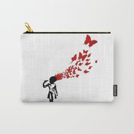 BANKSY Butterfly Suicide Girl Carry-All Pouch