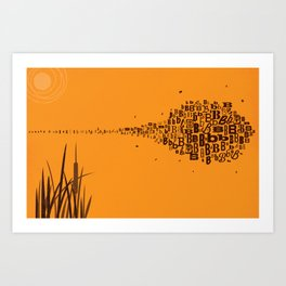 Swarm of B's Art Print