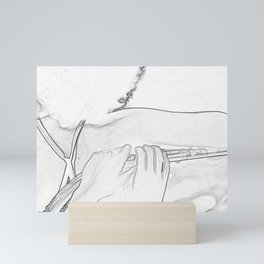 Head Shoulder and Hands Mini Art Print