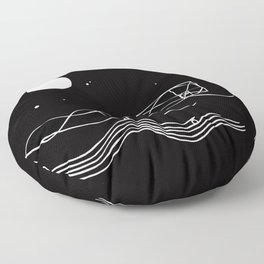 between sound and silence Floor Pillow