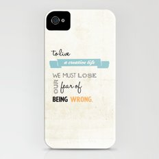 To live a creative life you must... Slim Case iPhone (4, 4s)