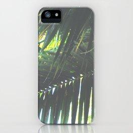 Faded Palm Jungle iPhone Case