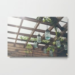 Mason Jars Metal Print