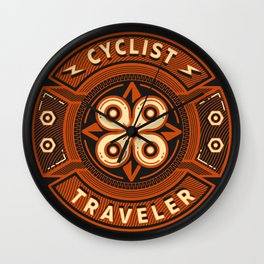 Cyclist and Traveler Wall Clock