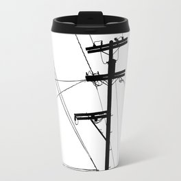 Power Lines at the bluff Travel Mug