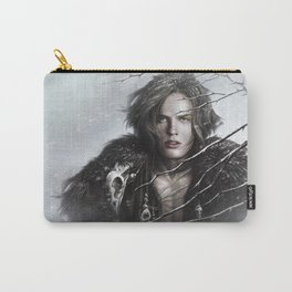 Black Wolf Fur Carry-All Pouch