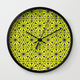V26 Moroccan Pattern Design Yellow Carpet Moroccan Texture. Wall Clock