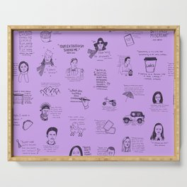 Gilmore Girls Quotes in Purple Serving Tray