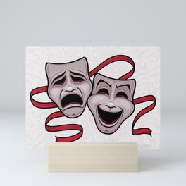 Comedy And Tragedy Theater Masks Mini Art Print