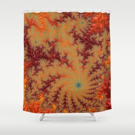 Crimson Alley - Fractal Art Shower Curtain