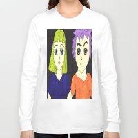 manga Long Sleeve T-shirts featuring Manga pals by Betty Apple Pie